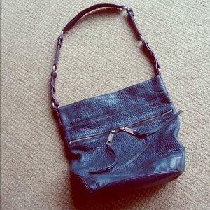Rebecca Minkoff Black boho crossbody bucket bag